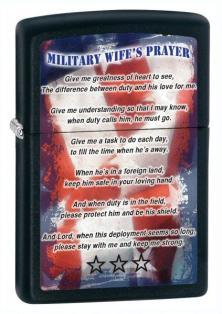 Zapaľovač Zippo Military Wife Prayer 26418