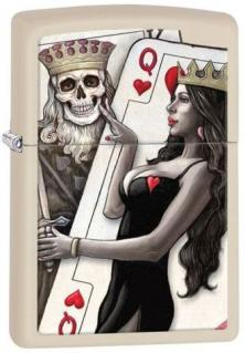 Zapaľovač Zippo Skull King and Queen Beauty 29393