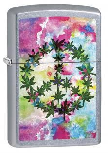 Zapaľovač Zippo Cannabis Leaf and Peace 6687
