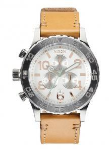 Hodinky Nixon 42-20 Chrono Leather Natural/Silver A424 1603
